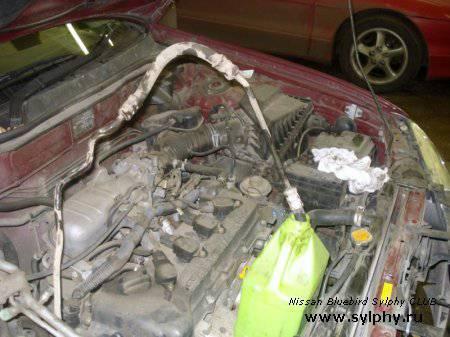 Замена жидкости гидроусилителя Nissan