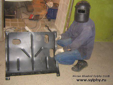 Установка защиты картера от ВАЗ на Sylphy
