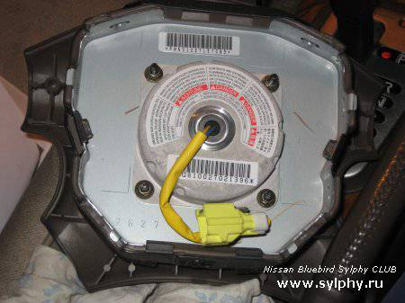 Как разобрать рулевое колесо на bluebird sylphy
