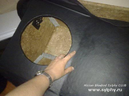 1.5 кВт сабвуфер на nissan bluebird sylphy
