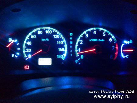 Стайлинг Подсветки панели приборов Nissan Bluebird Sylphy