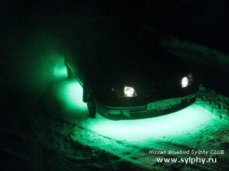 Диодная подсветка днища машины