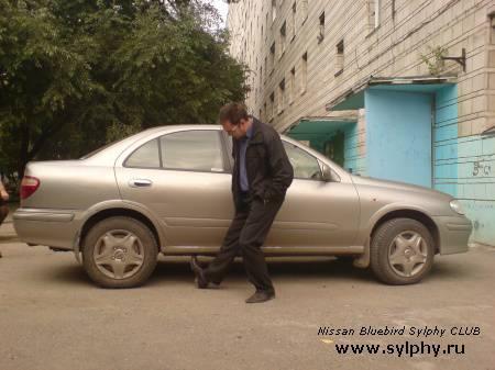 Замена задних стоек на Bluebird Sylphy 4WD