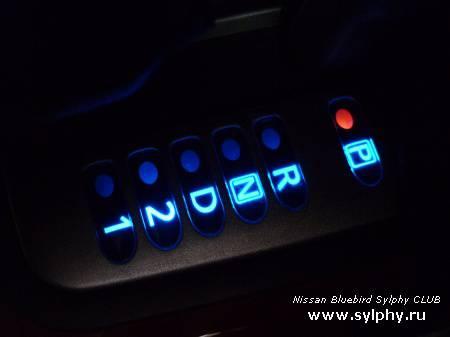 Замена цвета подсветки рычага АКПП