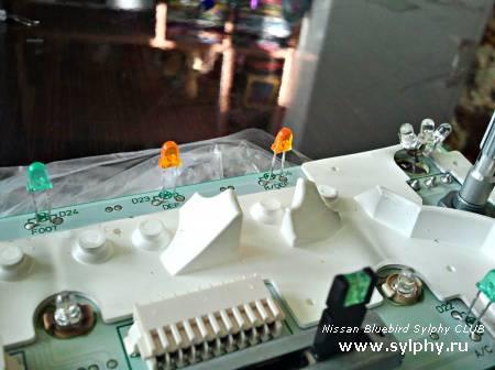 Замена ламп на светодиоды в аналоговом климат-контроле