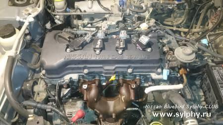 Замена прокладки ГБЦ + замена маслосъемных колпачоков (МСК) QG15DE