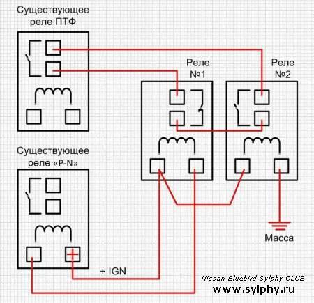 Автоматическое включение ПТФ (в качестве ДХО)